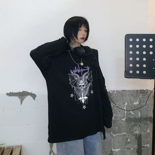 2DAWGS - Langarm T-Shirt mit Totenkopf-Aufdruck
