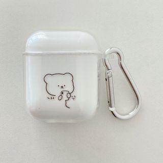 Aion - Bear Print Transparent AirPods Earphone Case Skin