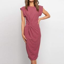Rovio - Short-Sleeve Midi Sheath Dress