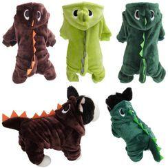 Dazzfur - 连帽恐龙宠物连衣裤