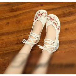 Sohma - Chinese Style Embroidered Flats