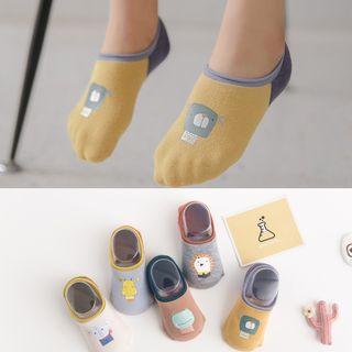 Cloud Femme - Kids Color Block Cartoon No-Show Socks