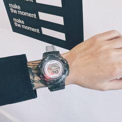 InShop Watches - Transparent Digital Strap Watch
