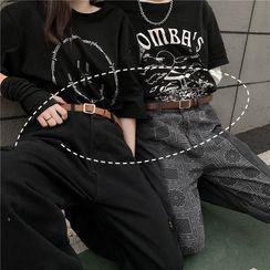 Shineon Studio - Faux Leather Slim Belt