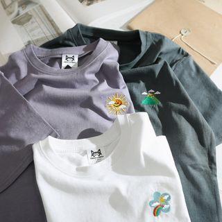 OSIGRANDI - Embroidered Short-Sleeve T-Shirt