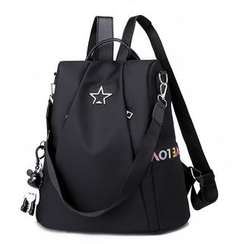 Golden Kelly - Boxy Nylon Backpack