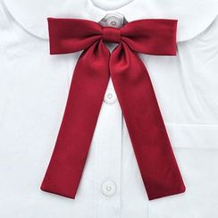 College Affair(カレッジアフェア) - Plain Ribbon Bow Tie