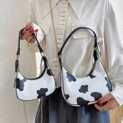 Faneur - Cow Print Shoulder Bag