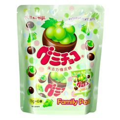 meiji - Muscat Gummy Chocolate Family Pack 18g x6