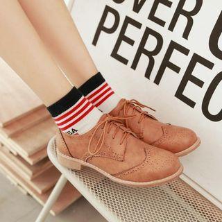 Pangmama - Lace-Up Brogue Shoes