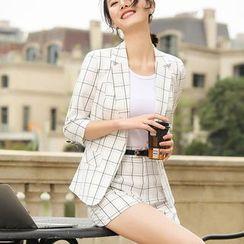 Princess Min - Spaghetti Strap Top / 3/4-Sleeve Blazer / Dress Pants / Dress Shorts