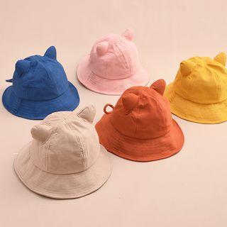 HARPY - Cat Ear Plain Bucket Hat