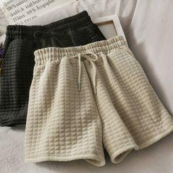 Lemongrass - Plain Plaid Wide Leg Shorts