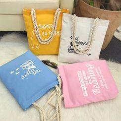 ANEMOI - 貓咪印花帆布手提袋