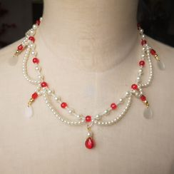 Rivermoon - Faux Pearl Necklace
