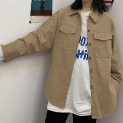 Chikee - Pocket Detail Button Jacket
