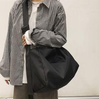 SUNMAN - Plain Nylon Crossbody Bag