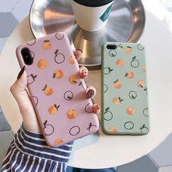 Drawnin - Orange Print Mobile Case - iPhone XS Max / XS / XR / X / 8 / 8 Plus / 7 / 7 Plus / 6s / 6s Plus