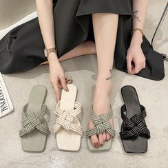 Laceuplux - Knotted Slide Sandals