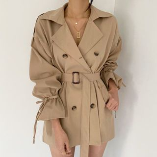 Coris - Double Breasted Trench Coat