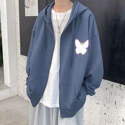 Dukakis - Butterfly Hood Zip Jacket