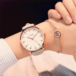 Teep - Reloj con correa de piel sintética