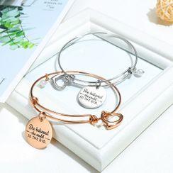 Tenri - Lettering Engraved Bracelet