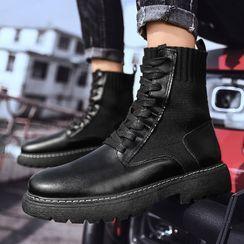 Auxen - Lace-Up Short Boots