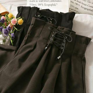 Lemongrass - Lace-Up Harem Pants