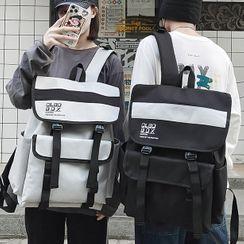 SUNMAN - Lettering Flap Backpack