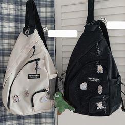 BANGGIRL - Lettering Print Sling Bag