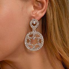 Mulyork - 水钻星星耳坠