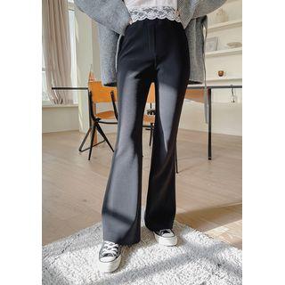 chuu - Band-Waist Boot-Cut Pants