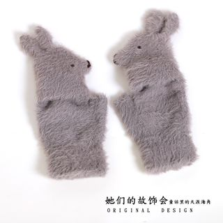 AOI - Rabbit Fingerless Gloves