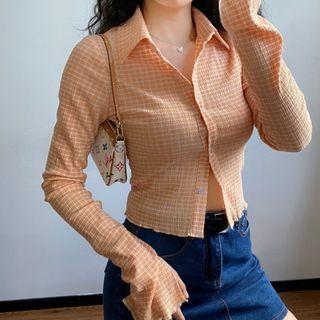 Sinora - Long-Sleeve Plaid Shirt