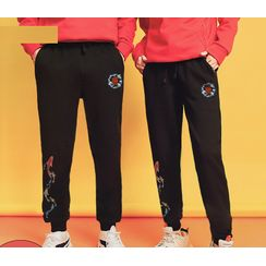 D-SEVEN - Couple Matching Printed Sweatpants