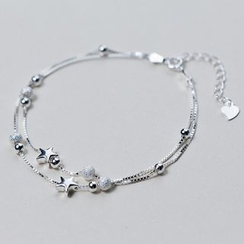 A'ROCH - 925 Sterling Silver Star Layered Bracelet