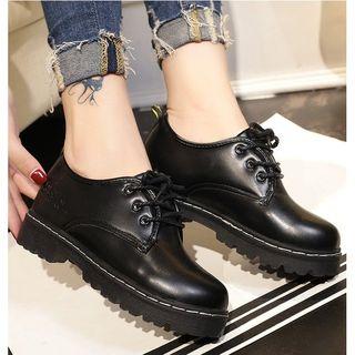 Satomi - 毛里系带鞋