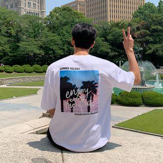 MRCYC - Short-Sleeve Palm Tree Print T-Shirt