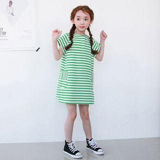 Youtale - Kids Stripe Short-Sleeve Dress