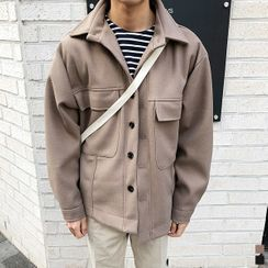 Seoul Homme - Oversized Wool Blend Jacket