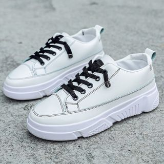 Weiya(ウェイヤ) - Plain Sneakers