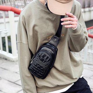ETONWEAG - Faux Leather Embossed Sling Bag