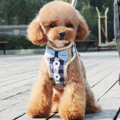 Salonga - 领结格子宠物胸带
