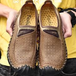 MARTUCCI - Faux Leather Slip-Ons