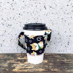 Libra - Cartoon Dog Print Reusable Coffee Sleeves