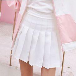 Carina - High Waist Pleated Skirt