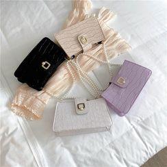 Diamante - Faux Pearl Shoulder Bag