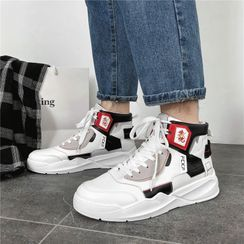 BELLOCK - Paneled High-Top Sneakers