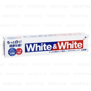 LION - White & White Toothpaste